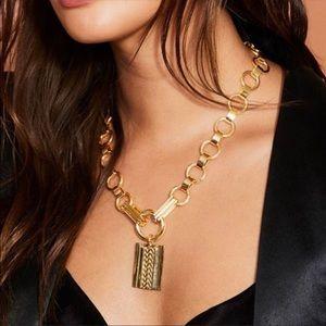 Dannijo Gold statement Necklace New Rachel Zoe